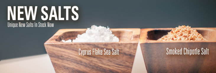 Introducing Cyprus Flake Sea Salt and Smoked Chipotle Salt